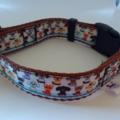 Brown dog pattern adjustable dog collars