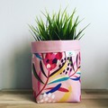 Small fabric planter | Storage basket | PINK PROTEA