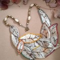 Eucalyptus printed Leaves necklace, Valentine's Day Sale