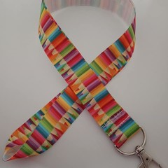 Colored pencil / teacher print lanyard / ID holder / badge holder