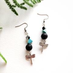 Surgical Steel Boho Jewelry Handmade Beaded Natural Gemstone Statement Earrings
