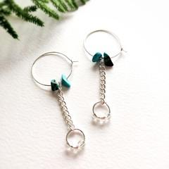 Minimalist Boho Fine Jewelry Handmade Natural Gemstone Statement Earrings