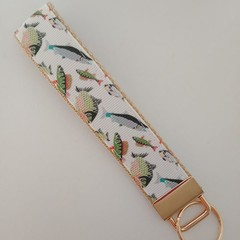 Fish print key fob wristlet