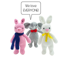 Piggy or Bunny or Elephant - from the Red George cuddle crew