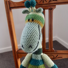 Gibson: Hand crocheted Giraffe by CuddleCorner: Soft, OOAK, Washable, Unisex