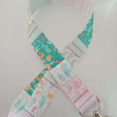 Cute animal / elephant whale giraffe print lanyard / ID holder / badge holder