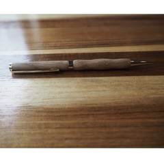 Handmade pen from American Oak recycled wood, non for profit