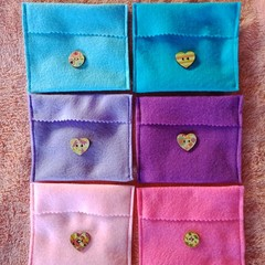 Felt jewelry pouches / small travel bags