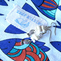 Book at the beach earring and simple drawstring bag for your books , art