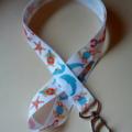 Dolphin print lanyard / ID holder / badge holder