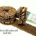Recycled Paper, Decorative Cardboard Strip, Assemblage Craft Part, Paper Art