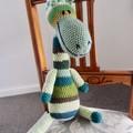 Gibson: Hand crocheted Giraffe by CuddleCorner: Soft, OOAK, Washable, Unisex