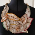 Eucalyptus printed Leaves necklace
