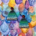 Polymer clay earrings - statement earrings Mermaids