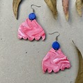 Polymer clay earrings - statement earrings Vibrant Blossoms