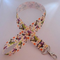 Witches hat Halloween print lanyard / ID holder / badge holder