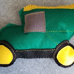 Green Truck Felt Cushion