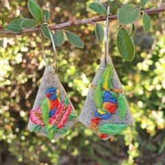 Handmade to Order - Rainbow Lorikeet Earrings