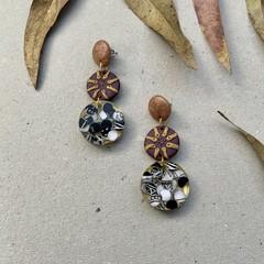 Polymer clay earrings - statement earrings Confetti