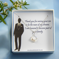 Mother of the Groom Necklace Gift, Gift to New Mother in Law
