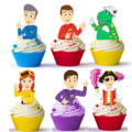 12x Wiggles Emma Edible Wafer Cupcake Toppers #804