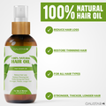 Hair Growth Oil-100% Natural Organic Herb Treatment-For All Hair Types-2Pack*100