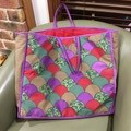 Shell appliqued large tote