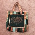 Patchwork tote carry-all.