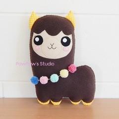 Alpaca Plush Llama / Soft Toy / Softie /  Birthday  Christmas Gift / Stuffed