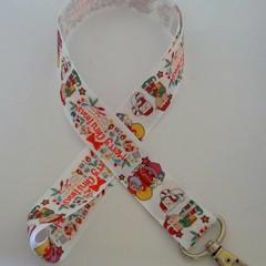 Merry Christmas print lanyard / ID holder / badge holder