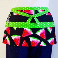 Preschool teacher vendor daycare apron - 6 pockets - Watermelon