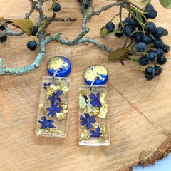 Verbena Botanical statement dangles