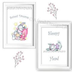 Sweet Dreams Sleepy Head Prints