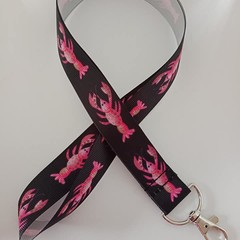 Lobster print lanyard / ID holder / badge holder