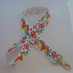 Hawaiian tropical print lanyard / ID holder / badge holder