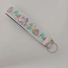 Mermaid print key fob wristlet