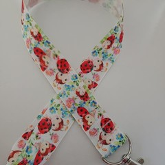 Ladybird print lanyard / ID holder / badge holder