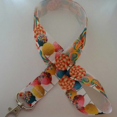 Lollipop sweets print lanyard / ID holder / badge holder