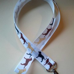 Labrador print lanyard / ID holder / badge holder