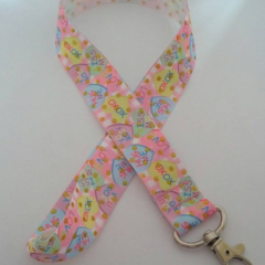 Love heart Valentine's Day print lanyard / ID holder / badge holder