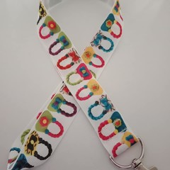 Handbag fashion print lanyard / ID holder / badge holder