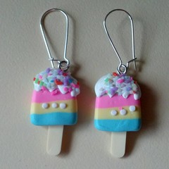 Ice cream charm earrings