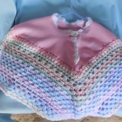 Pretty Pastel Poncho/ 12 months +