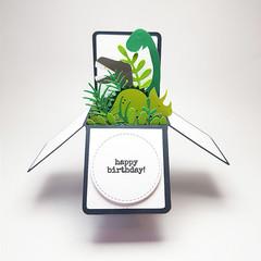 Dinosaurs Happy Birthday Pop Up Card, 3D Childrens Card, Boys Birthday Card