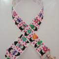 Japanese / geisha girl print lanyard / ID holder / badge holder