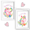 Unicorns Beautiful Girl We Love You Prints