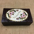 Leather Look Treasures Box with Pansies