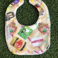 Australian Treats  feeding Baby bib with snaps