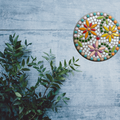 Mosaic Three Flowers Circle