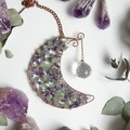 Amethyst and Aventurine Crescent Moon Sun Catcher
